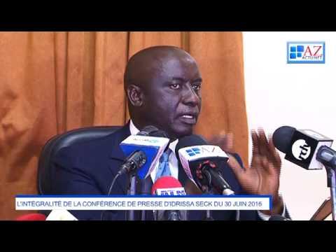 L'intégralité de la conférence de presse d'Idrissa Seck (vidéo)