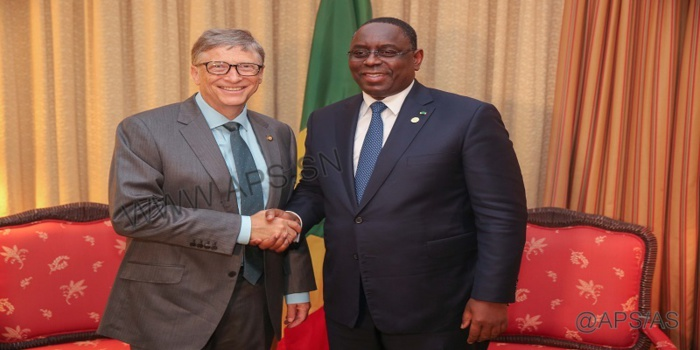 """Macky Sall peut se mettre au """"Yella"""" : Bill Gates lui a promis santé, hygiène, assainissement…"""