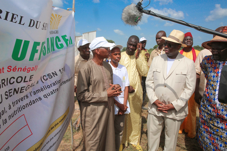 Macky Sall boucle sa tournée agricole, à Tambacounda, avec 2,5 milliards F Cfa
