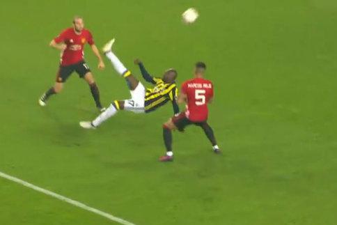 Europa League : le retourné incroyable de Sow contre MU, va laisser pantois, coach Cissé