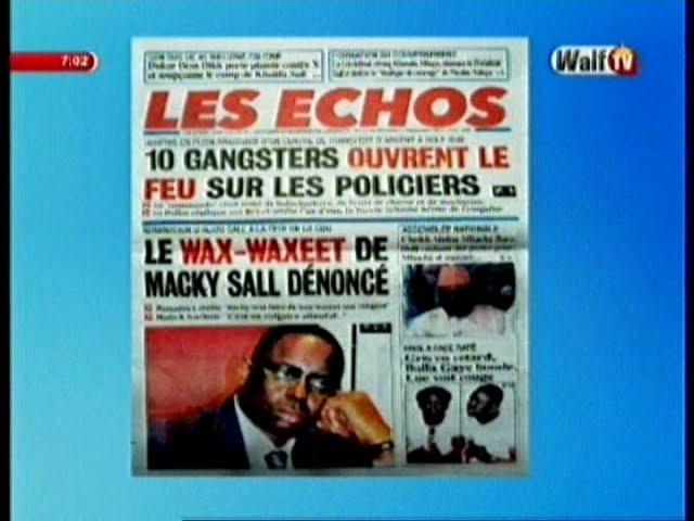 Revue de Presse WalfTv du Mercredi 13 Septembre 2017 en images