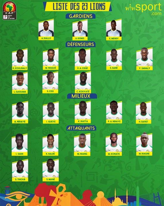 Can 2019/Liste des 23 joueurs : Aliou Cissé écarte Santy Ngom et Sidy Sarr