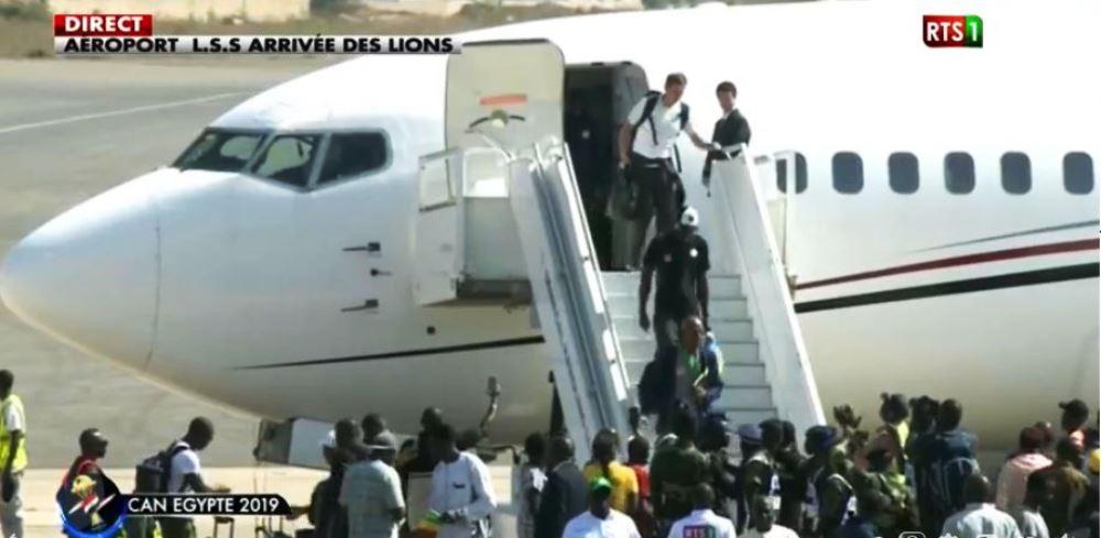 Aéroport Léopold Sédar Senghor : les vice-champions d'Afrique sont arrivés